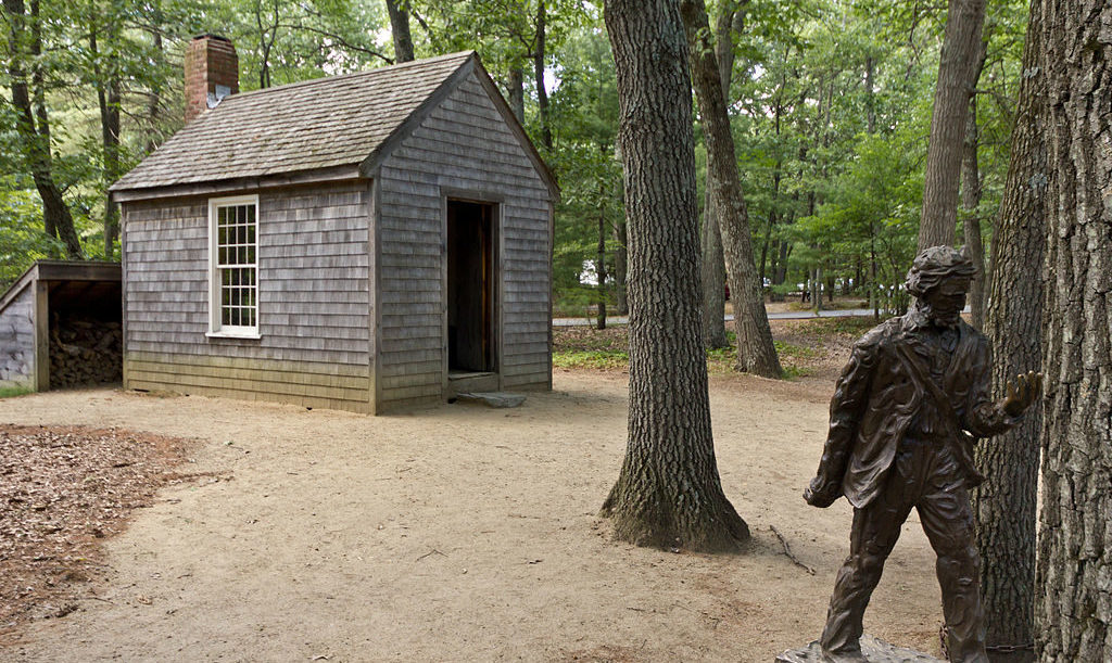 Replica of Thoreau's cabin near Walden Pond.